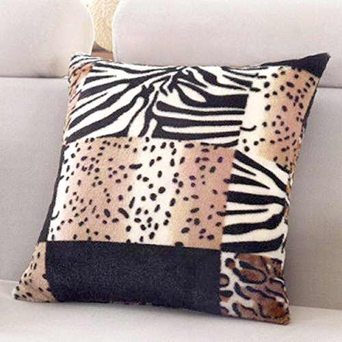 "WOMHOPE 1 Pcs - 14.5"" Animal Theme Print Style Faux Fur Cush"