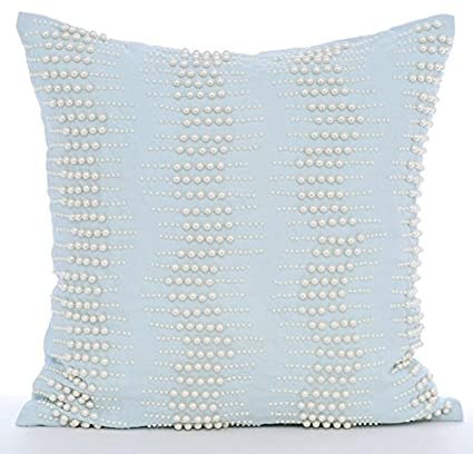 Amazon Luxury Light Blue Throw Pillows Cover Mother Of Pearls Best Light Blue Throw Pillow Covers