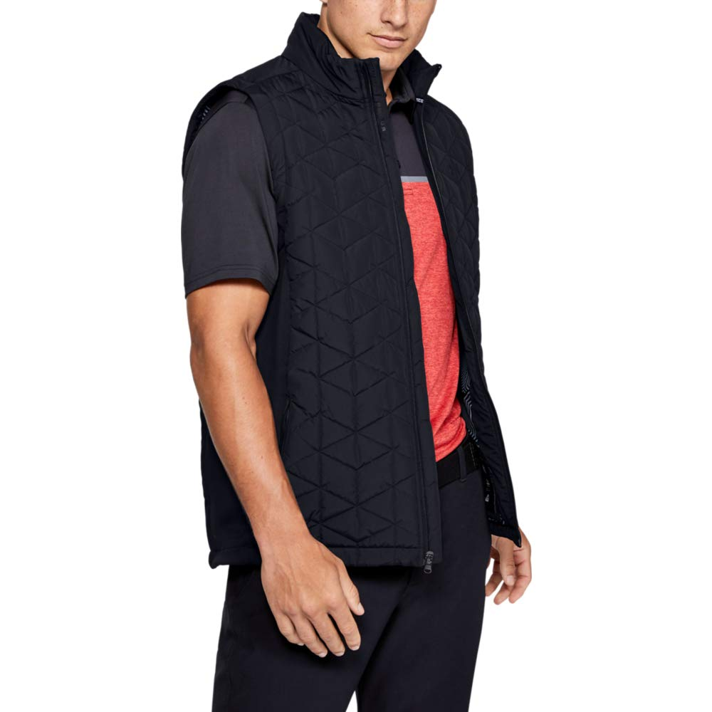 Under Armour Coldgear Reactor Elements Hybrid Vest, Black (001)/Black, Large by Under Armour