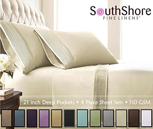 Southshore Fine Linens® - 3 Piece - Extra Deep Pocket Pleat