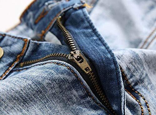 Giovane Vita Da Pantaloni Jeans Eleganti Dritto A Di Medio Taglio Blu Slim Uomo Bassa Vintage Moda q55t7gz