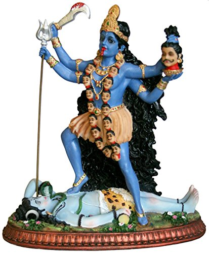 """Krishna Culture Kali Ma and Shiva Statue 10.5"""" Hindu, used for sale  Delivered anywhere in USA"""