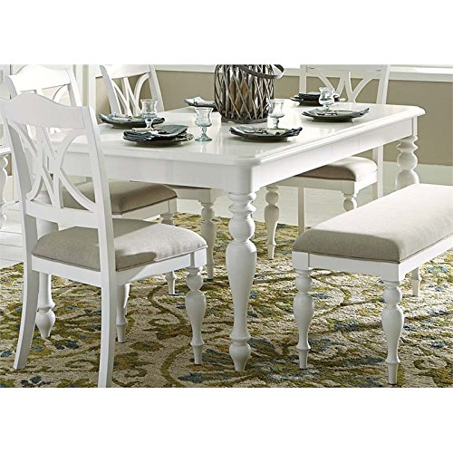 (Liberty Furniture Summer House I Dining Table in Oyster White)
