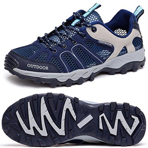 Odema Herren Damen Masche Lace Schnell trocken Aqua Wasser Sneaker Navy Blau