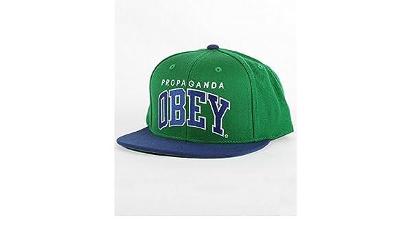 Obey - Gorra de béisbol - para hombre verde verde: Amazon.es: Ropa y accesorios