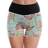 Compression Shorts Mermaid Fish High Waist Yoga Shorts Tights Booty Shorts