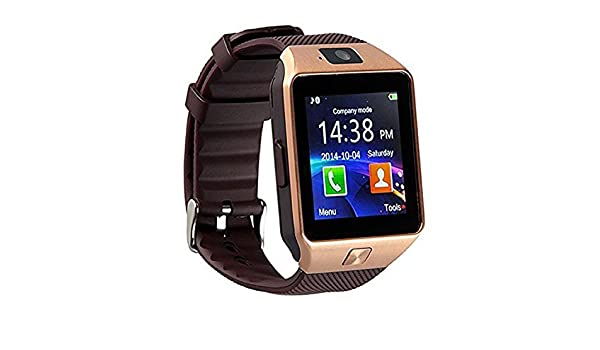 Amazon.com: Bluetooth Smart Watch DZ09 Smartwatch Watch Phone Support SIM TF Card with Camera for Android iOS iPhone Samsung LG Phones Gold (Gold): Cell ...