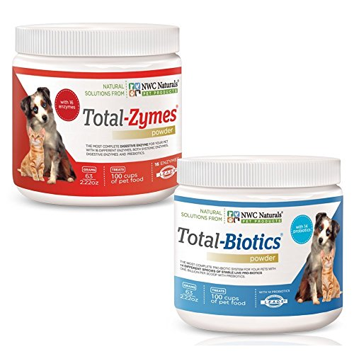 NWC Naturals Total-Digestion Mini-twin Pack Total-Zymes, Total-Biotics Each Jar Treats 100 Cups of Food