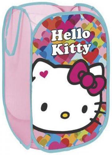Multicolore North Star HK9489/Sac /à Jouets Pop up en Polyester Motif Hello Kitty