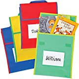 Store More Medium Book Pouches - Primary Multicolor - Set Of 36