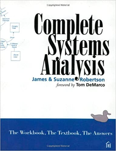 Amazon complete systems analysis the workbook the textbook complete systems analysis the workbook the textbook the answers fandeluxe Choice Image