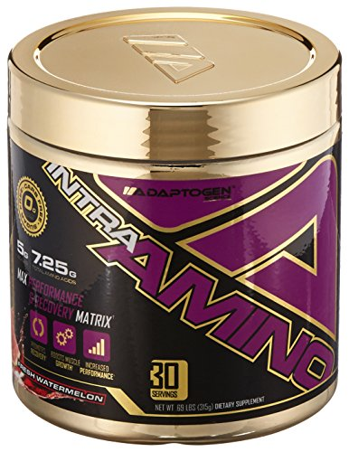 Adaptogen Science Intraamino Max Performance and Recovery Matrix Supplement, Watermelon, 315 Gram