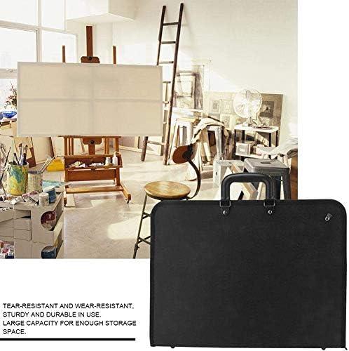 zyy Lavagne Art Bag Portfolio, A3 Disegno Pittura Storage Table File PVC Portatile Piatto Pittura Schizzo Consiglio Artista Documento di Trasporto,Nero
