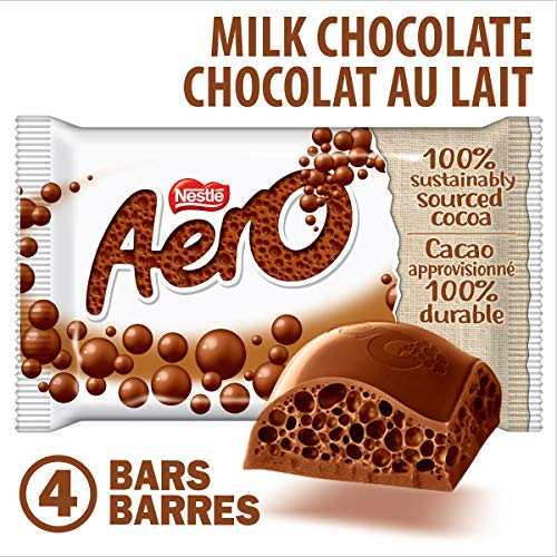 Nestle Aero Milk Chocolate Bar-pack 4 Pack From Canada (Chocolate Canada)