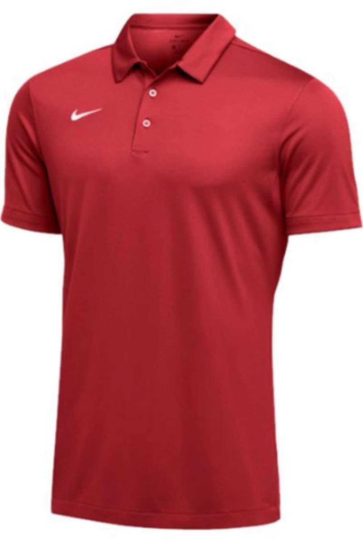 Nike Mens Dri-FIT Short Sleeve Polo Shirt (Crimson, X-Large) by Nike