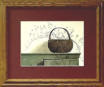 Amazon.com: Framed Berry Basket Rose Berries Country Framed Art ...