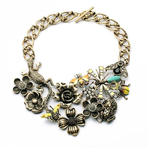 Fun Daisy Grand Natural Garden Bees in the Flowers Bugs Fashion Necklace - xl00908
