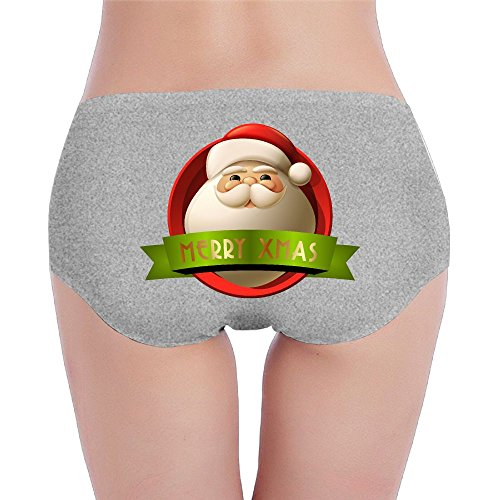 Women's Panties Hipsters Bikini Seamless Underwear Briefs Low Rise Santa Claus Merry Christmas Xmas Decoration Breathable Stretch 3 Colors Available