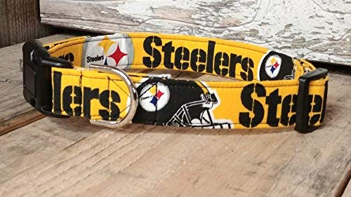 Buckle Steelers (Pittsburg Steelers dog collar buckle or martingale with leash set option)