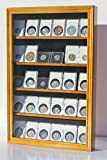 Oak Collector Ngc Pcgs Icg Coin Slab Display Case Rack Wall Cabinet