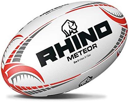 Rhino Meteor Match - Pelota de Rugby Unisex, Talla 5, Color Blanco ...