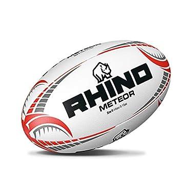 4b09e714c1c8e Rhino Rugby 'Meteor' supérieure à la main cousu Match Ballon de rugby  Taille 5