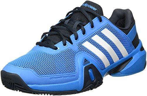 adidas adiPower Barricade 8 Scarpa da Tennis Uomo, Blu/Nero/Bianco, 46 Blu/Nero/Bianco
