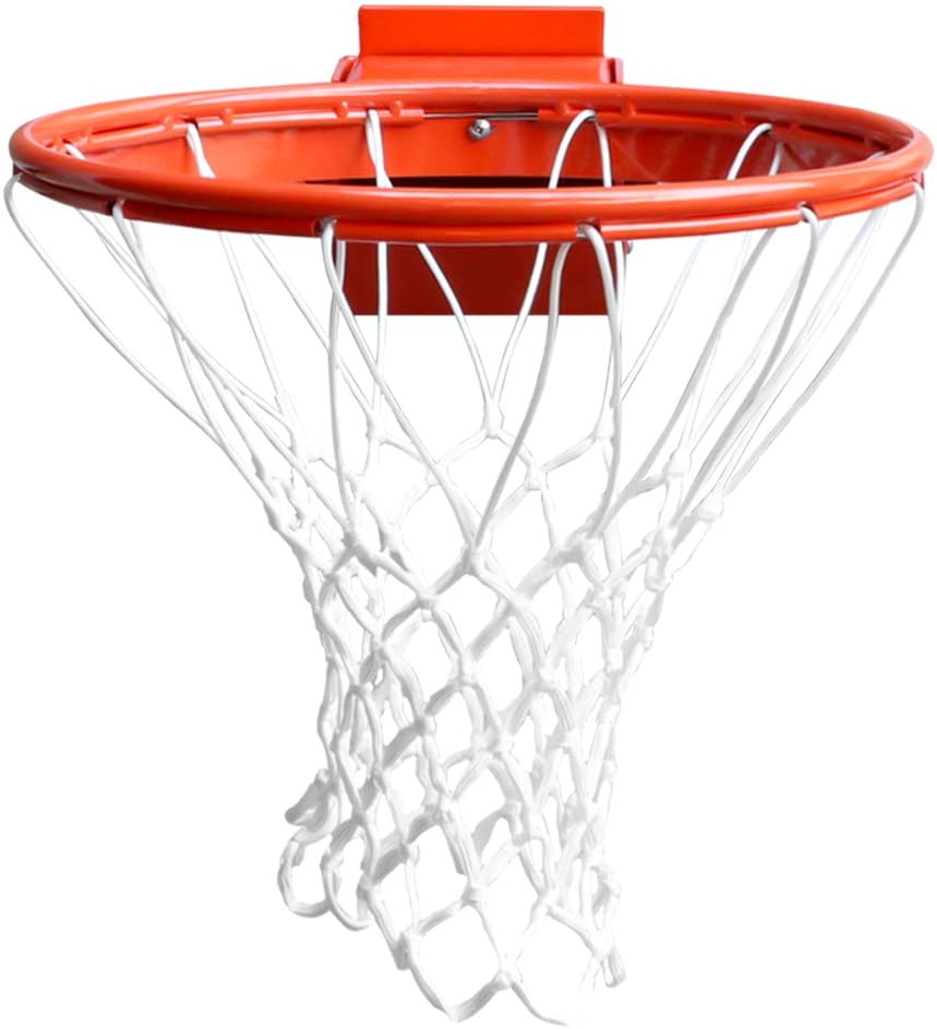 PROGOAL Heavy Duty Basketball Rim Breakaway Single Spring Rim Replacement 5/8-In, Indoor and Outdoor Fit Most Size Backboards