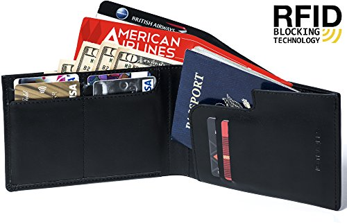 RFID Genuine Leather Passport Wallet