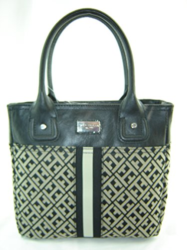 Tommy Hilfiger Small Tommy Tote Handbag Black Multi