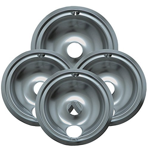 Range Kleen 119204XZ Style B Chrome 4 Pack Drip Bowls 3 Small and 1 Large