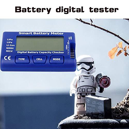 pedkit Probador de bater/ía Lipo,Comprobador de Capacidad de bater/ía Digital Probador de Voltaje de bater/ía Retroiluminaci/ón LCD para LiPo Life Li-Ion NiMH Nicd