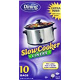 "Crock Pot Liners 13"" X 21"" X 4"" Fits All Crock Pots and Slow Cookers Extra Large"
