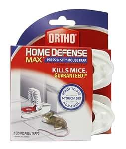 Ortho 0321110 Home Defense MAX Press 'N Set Mouse Trap, 2-Pack  (Older Model)