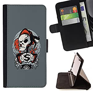 Jordan Colourful Shop - Punk Grim Reaper For Apple Iphone 6 PLUS 5.5 - Leather Case Absorci???¡¯???€????€??????????