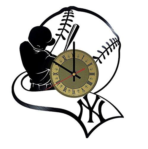 Baseball Vinyl Wall Clock NY Yankees Unique Gifts Living Roo