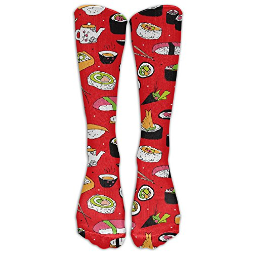 670fa8ef7763f WeiGin Men's Novelty Japanese Cuisine Sushi Roll Maki Stylish Outdoor Sport  Knee High Long Socks Athletic Crew Socks