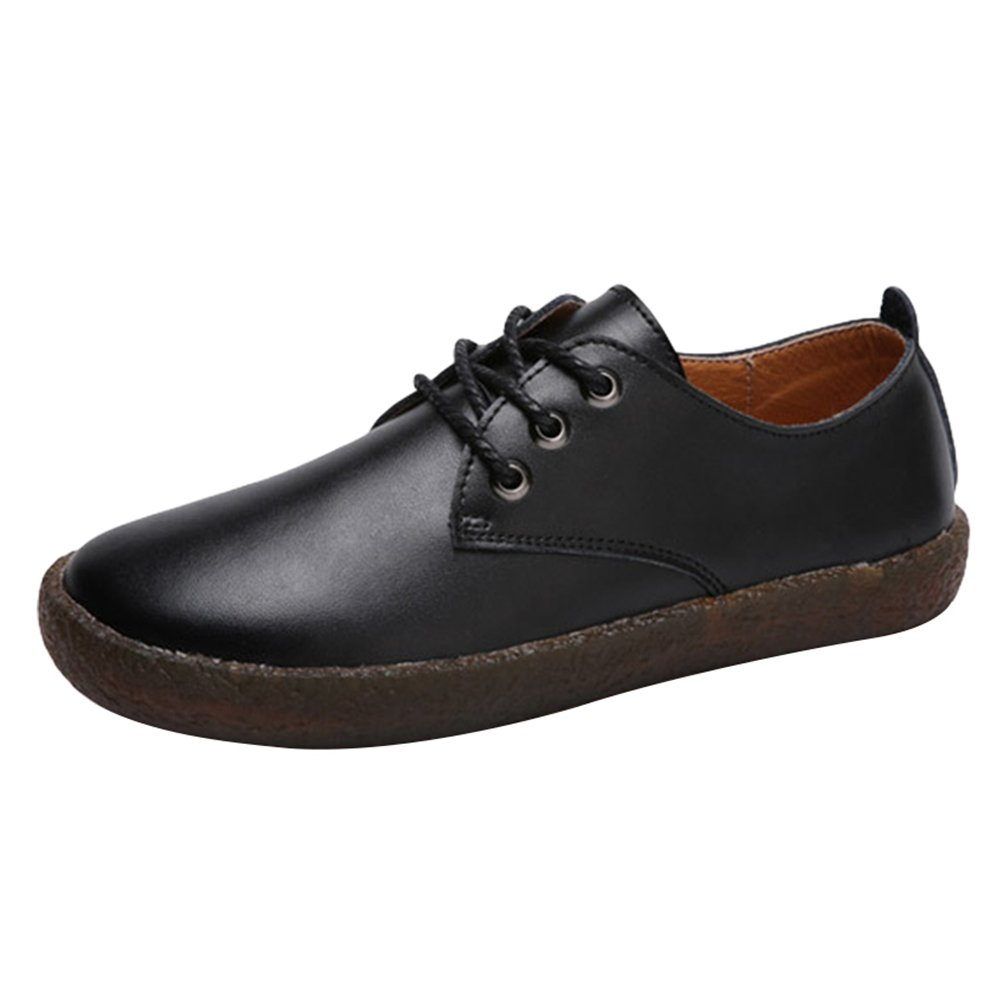 Yiiquan Femme Loisirs Low-Top Chaussures Cuir PU Doux Noir Antidérapant Bateau 14864 Chaussures Flats Lacets Chaussures Noir # 1 d3a1c24 - fast-weightloss-diet.space