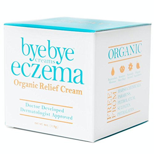 Bye Bye Eczema - Organic Relief Cream: A Natural and Powerful Treatment for Eczema, Psoriasis, Rosacea, Dermatitis, Shingles, and Other Skin Irritations. 4oz. Jar - Guaranteed Relief Promise