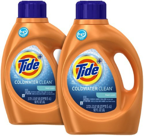 - Tide Coldwater Clean High Efficiency Liquid Laundry Detergent - 92 oz - Fresh - 2 pk