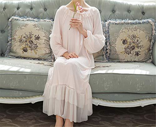 Dormir A Primavera Algodón Mmllse Gran Domicilio Pijamas Falda Otoño Modales Tamaño Dulce Servicio Y Pink De Mujer Suelta qIEvA