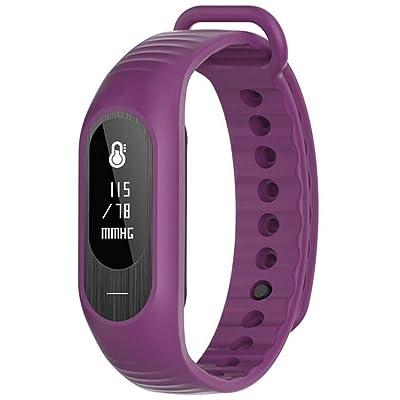 Braceletintelligent Bracelet Smart Fitness Tracker / Smart Bracelet / Mesure de la pression artérielle / Podomètre Sport / Identification de l'appelant / Rappel d'information / Moniteur de sommeil / Smart