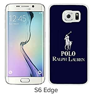 Popular Samsung Galaxy S6 Edge Case ,Lauren Ralph Lauren 14 White Samsung Galaxy S6 Edge Screen Case Hot Sale And Fashionable Designed Cover Case