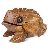 Pro Percussion Medium Wood Frog Guiro, Rasp, Tone Block, Natural Finish, Musical Instrument, Drum Circle Accessory