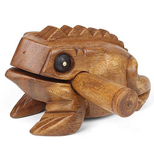 Pro Percussion Large Wood Frog Guiro, Rasp, Tone Block, Natural Finish, Musical Instrument, Drum Circle Accessory