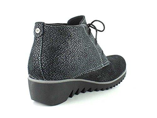 Wolky Confort Lacets Chaussures Sombre Hiver Noir