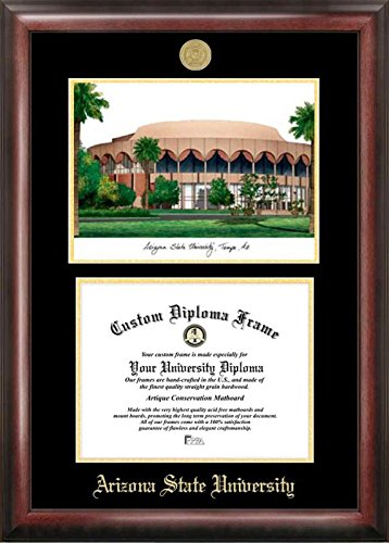 Campus Images AZ994LGED Arizona State University Embossed Diploma Frame with Lithograph Print, 11