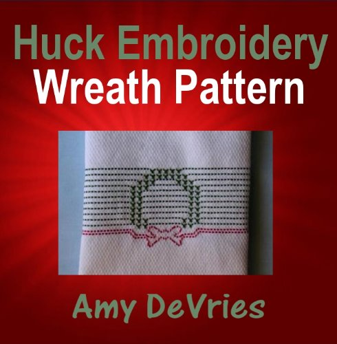 (Huck Embroidery Wreath Pattern )