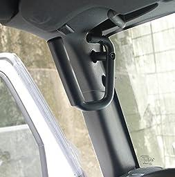 Matte Black Front & Rear Grab Bar Grab Handle Kit Fit 2007-2017 Jeep Wrangler JK 2DR/4DR