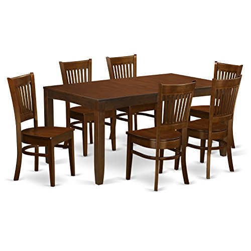 East West Furniture LYVA7-ESP-W 7 Piece Lynfield Table With